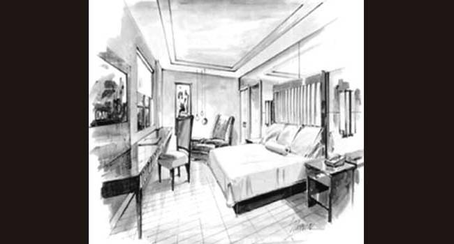 Edison Breakwater Hotel: Guestroom Rendering