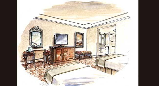 The Hotel Hershey Alternate Guestroom View Rendering
