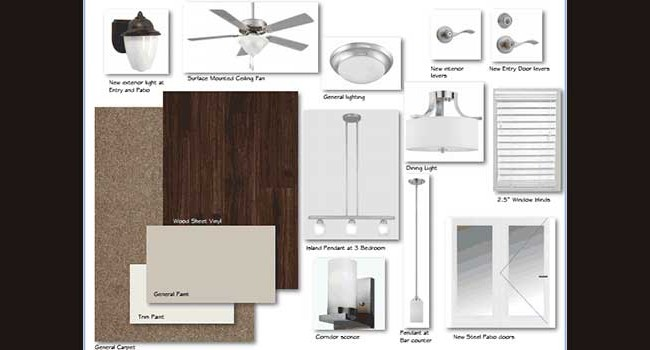 Presentation Board: Tiffany Square Apartment Renovations #1