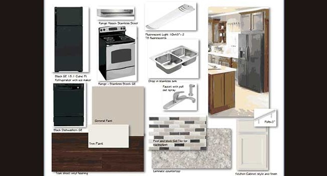 Presentation Board: Tiffany Square Apartment Renovations #2