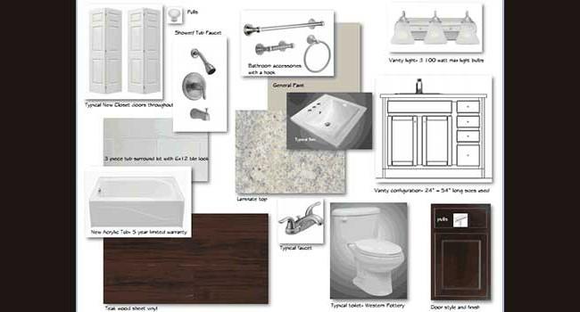 Presentation Board: Tiffany Square Apartment Renovations #3