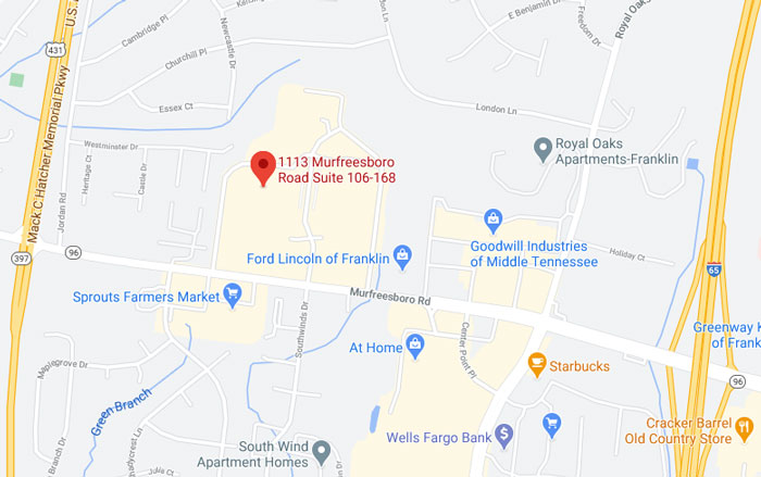 Google Maps map view of The W Group offices in Franklin, TN